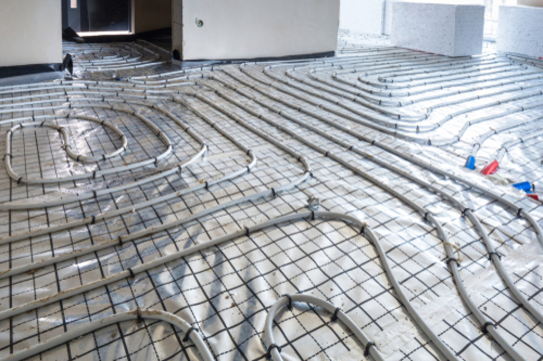 Say goodbye to cold floors with radiant floor heating